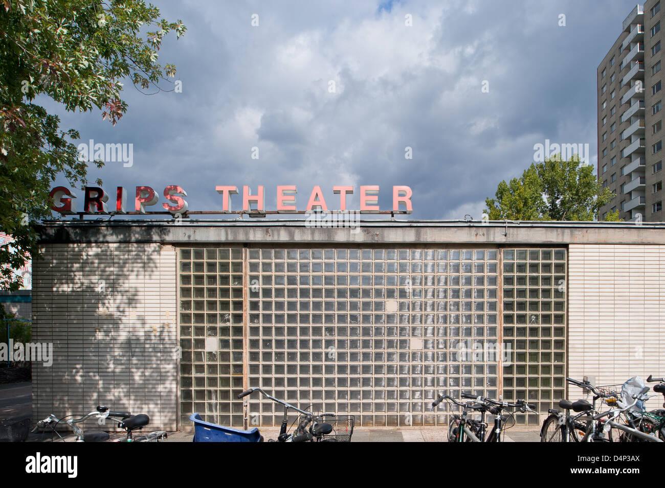 Berlin, Germany, the Grips Theater in Hansaviertel - Stock Image