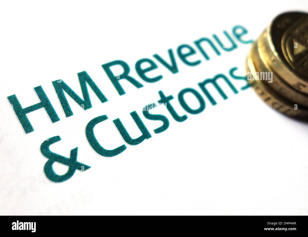 HM revenue and customs logo - Stock Image