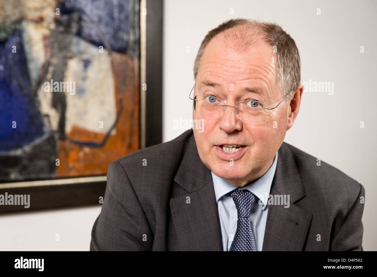 Berlin, Germany, SPD chancellor candidate Peer Steinbrueck - Stock Image