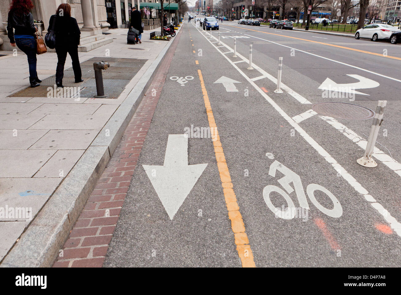 Bike lane - Stock Image