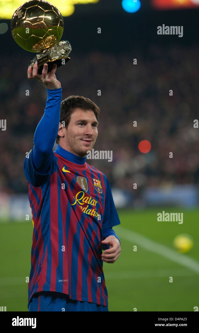 Barcelona, Spain, Lionel Messi, for the third time World Player of the Year - Stock Image