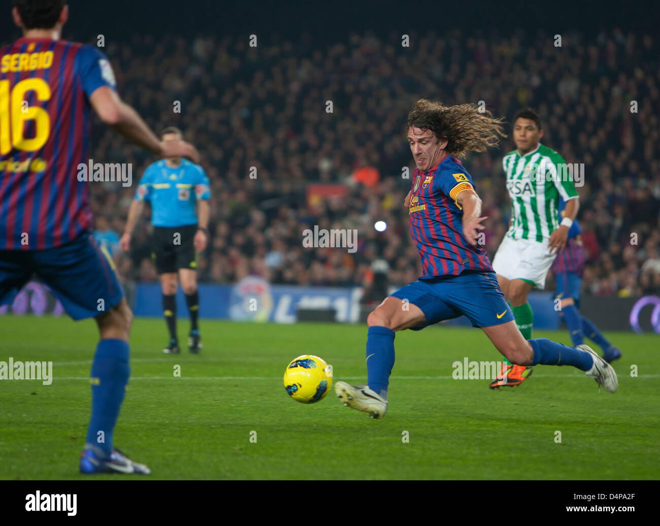 Barcelona, Spain Carles Puyol, captain of FC Barcelona - Stock Image