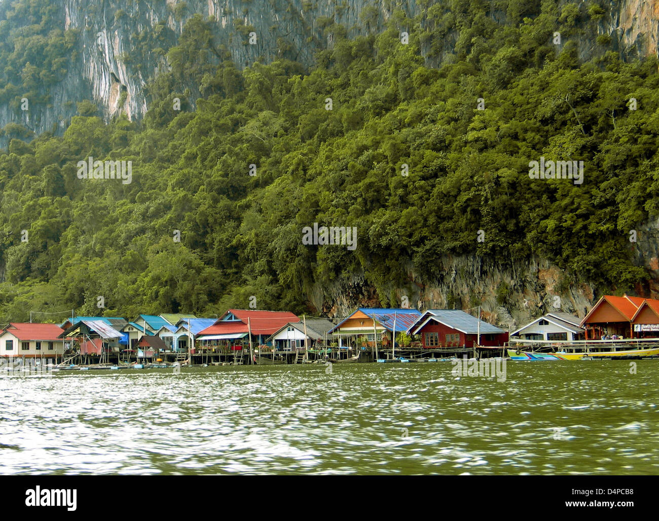 (file) - The file picture dated 04 November 2008 shows the stilt house village Ko Panyi on Ko Panyi Island at Phang - Stock Image