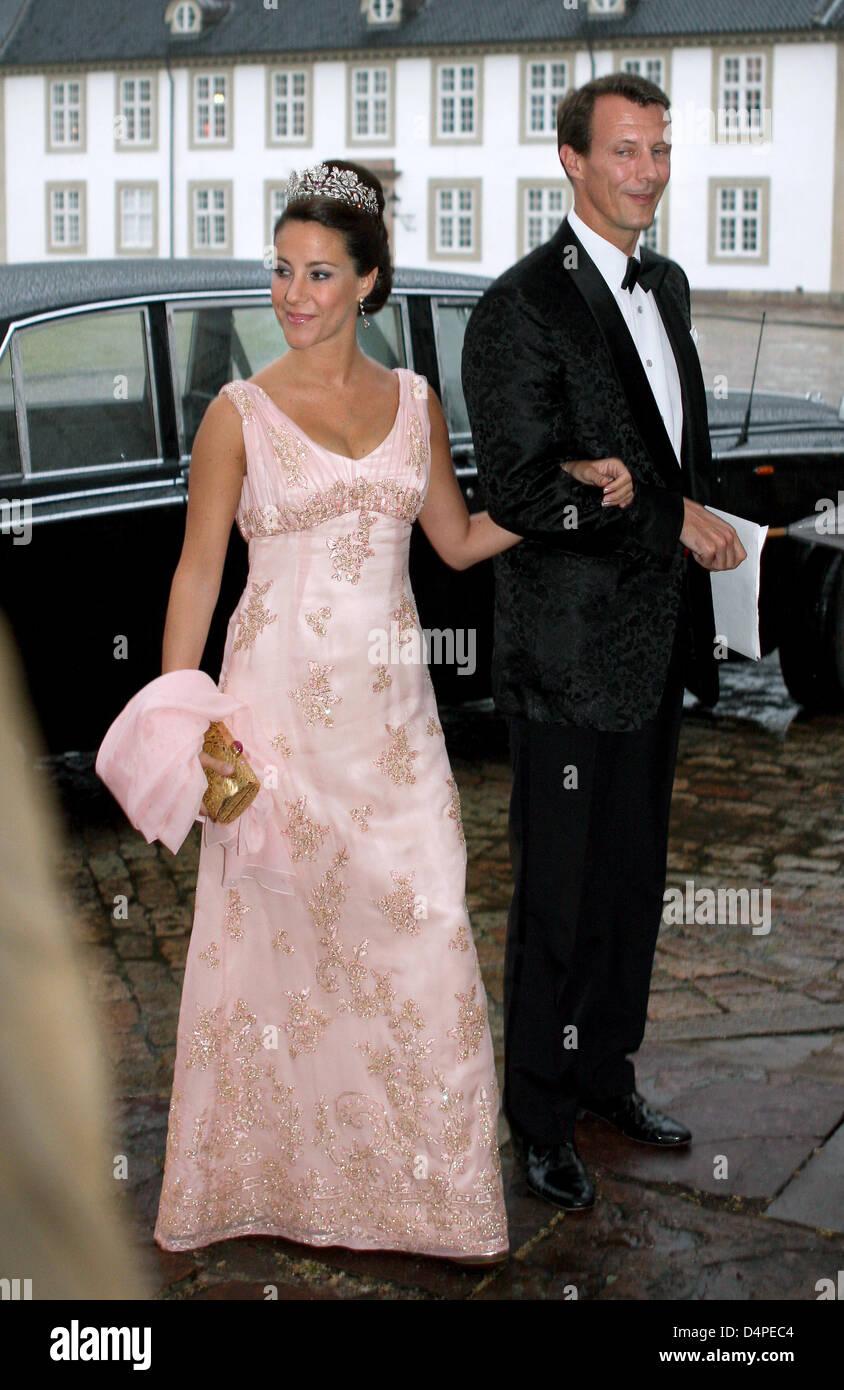 Prince Joachim of Denmark (R) and his wife Princess Marie of Denmark ...