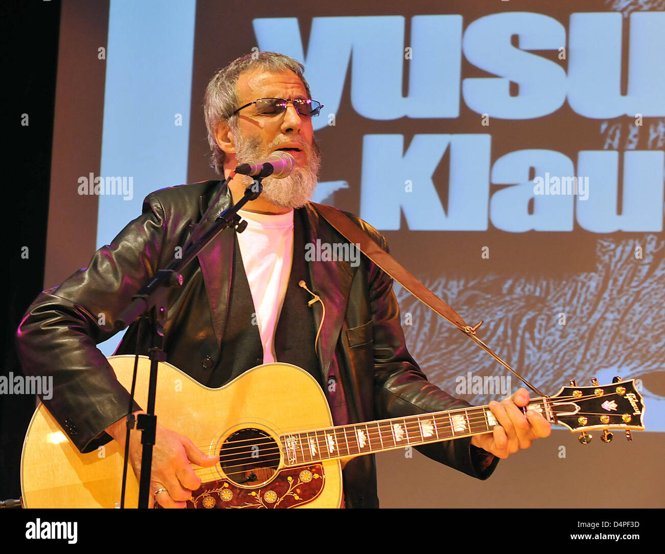 British musician Yusuf Islam, formerly known as Cat Stevens, performs at his bassist Klaus Voormann?s album release - Stock Image