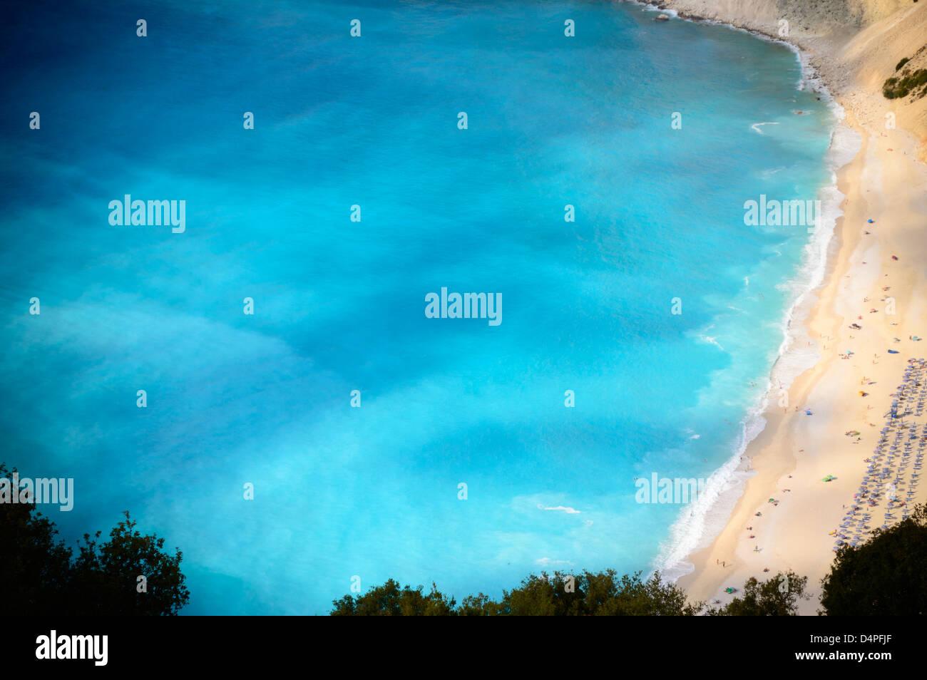 Myrtos Beach, Cephalonia (Kefalonia), Greece - Stock Image