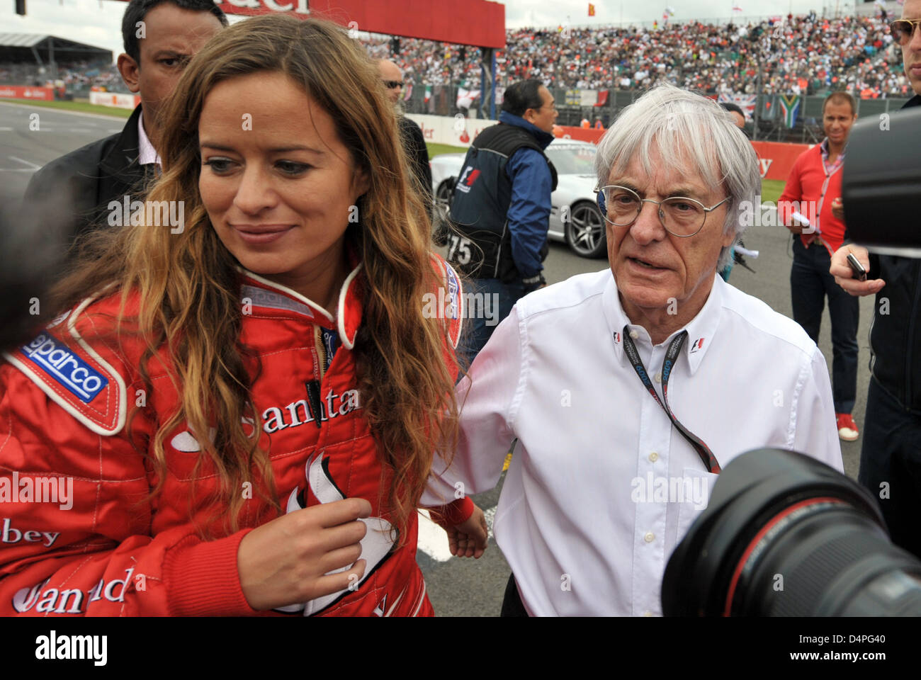 Jade Jagger And Formula One Boss Bernie Ecclestone Pictured In The