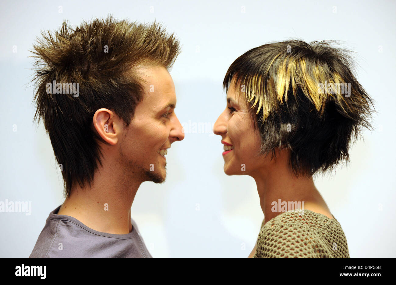 The Models Jacqueline And Peter Present Hairstyle Summer Trends 2009