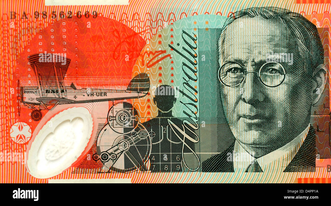 Australia 20 Dollar Note - Stock Image