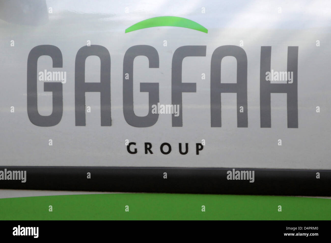 the logo of housing company Gagfah pictured in Wiesbaden, Germany, 27 August 2009. More than 50 people had to leave - Stock Image