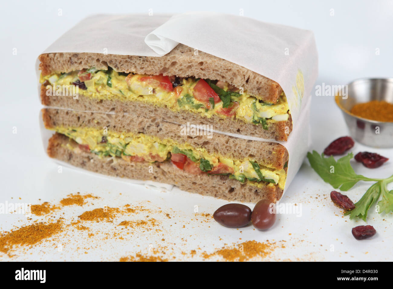 Egg Sandwich - Stock Image