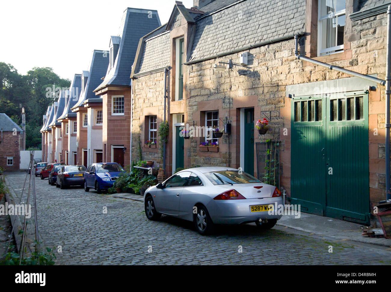 modern conversion in old dean village - Stock Image