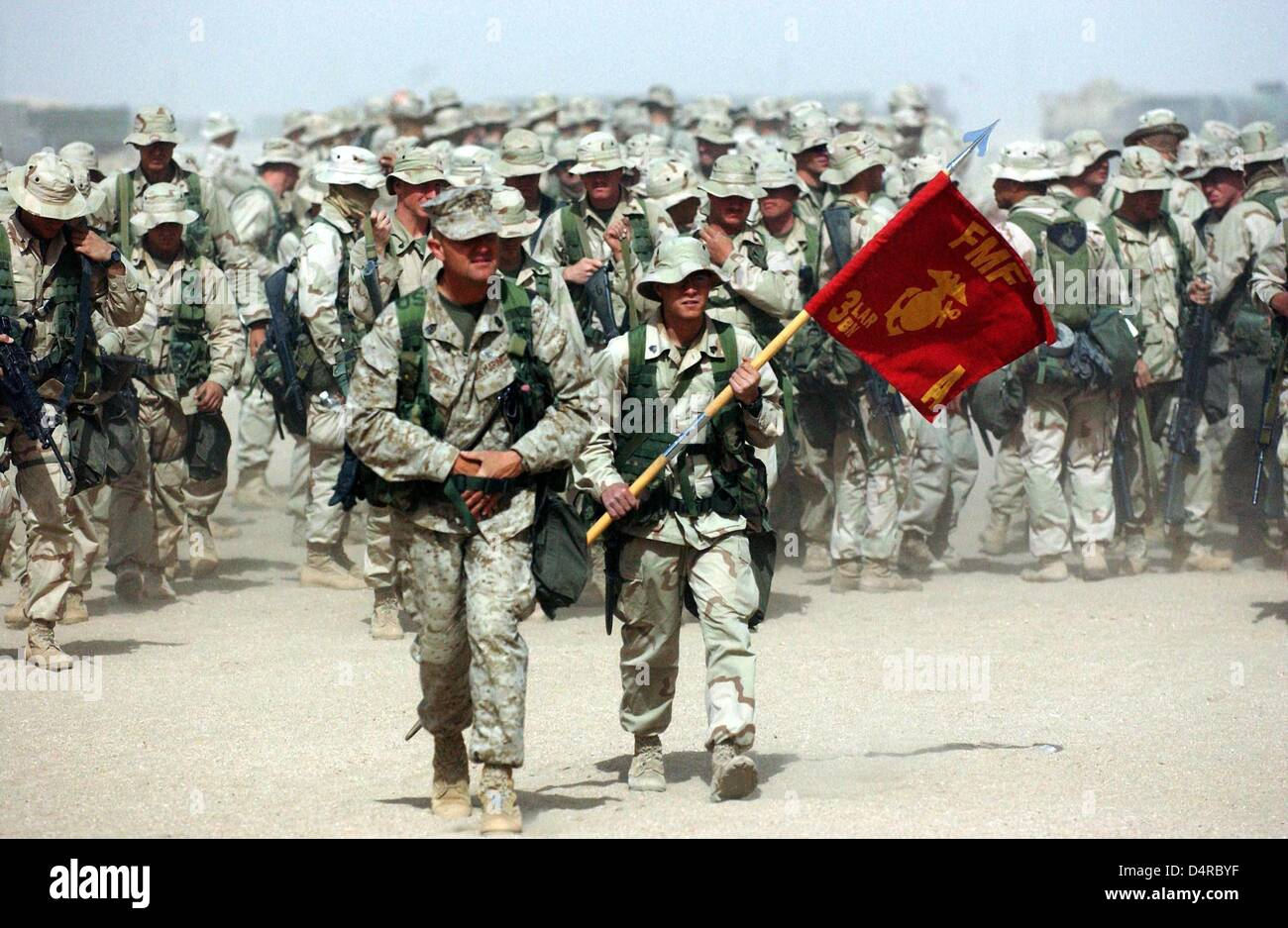US marines of the A-company of...