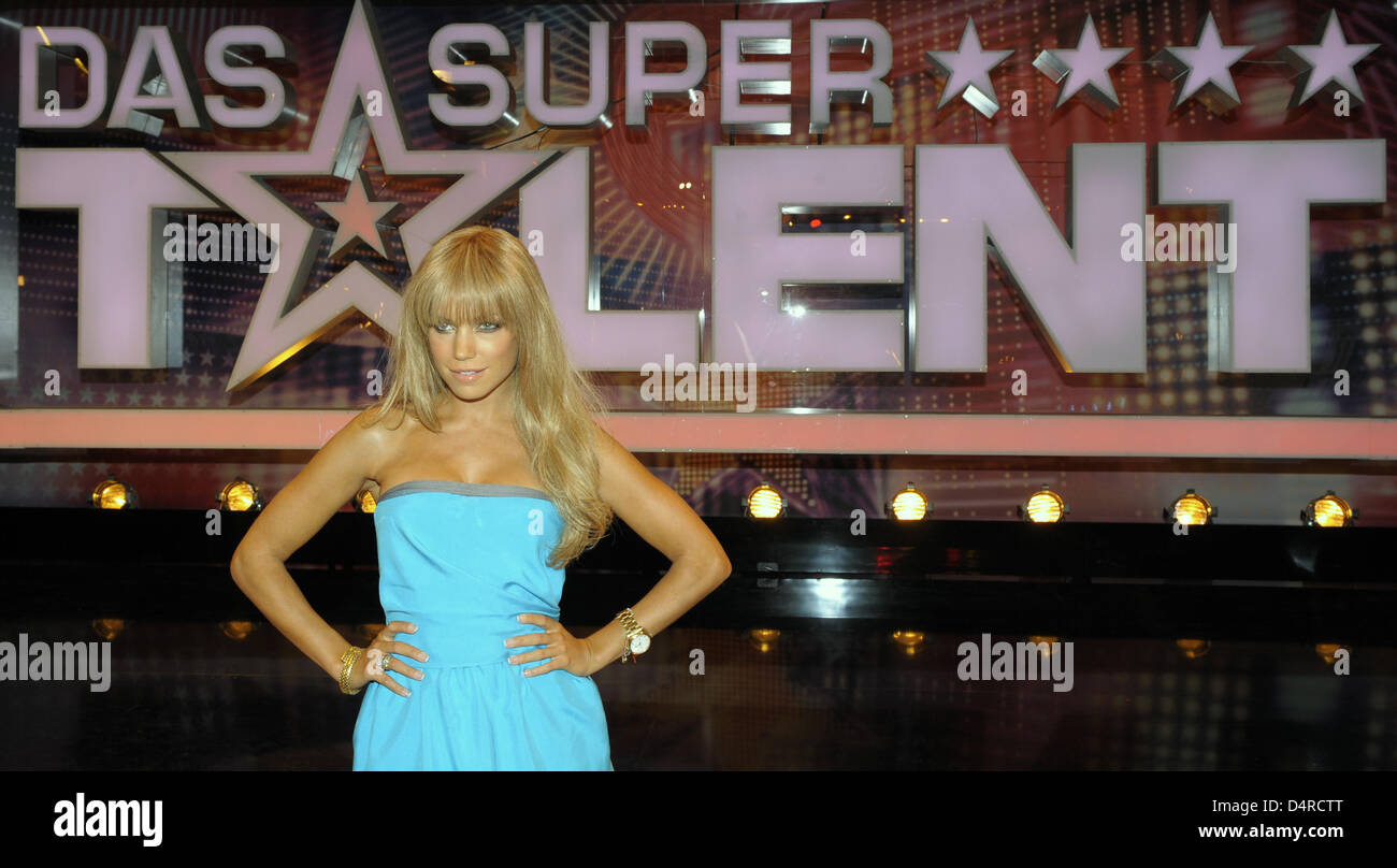 Sylvie van der Vaart, jury member of private TV station RTL?s casting show ?Germany?s Got Talent?, poses at the Stock Photo