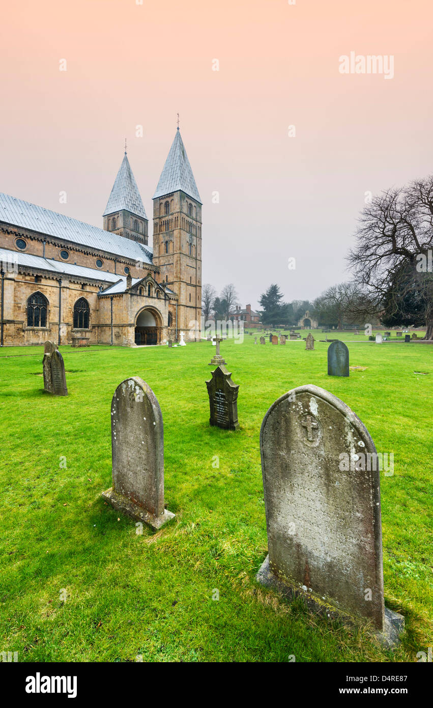 Southwell Minster, Southwell, Nottinghamshire, East Midlands, UK - Stock Image