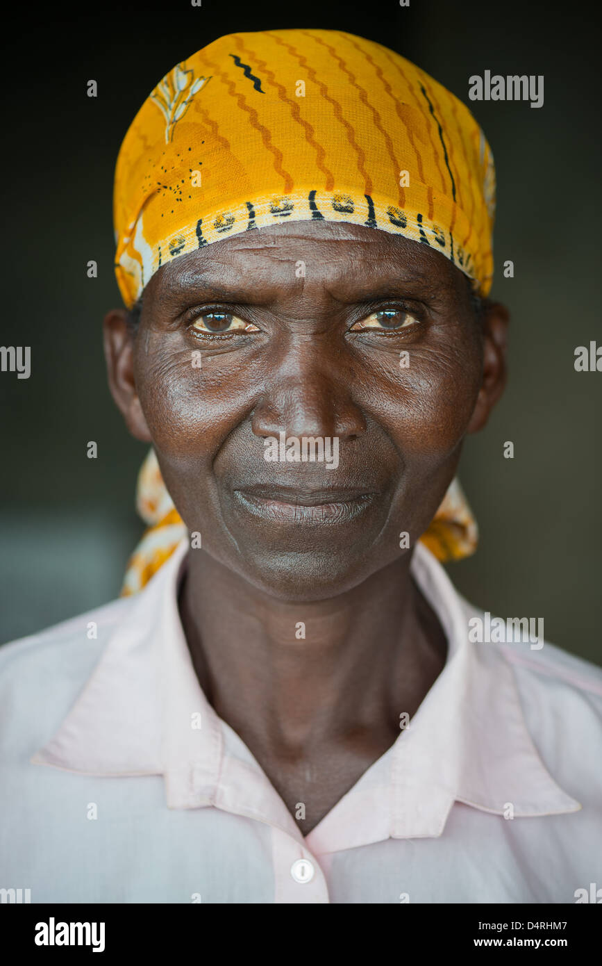 portrait of an African woman - Stock Image