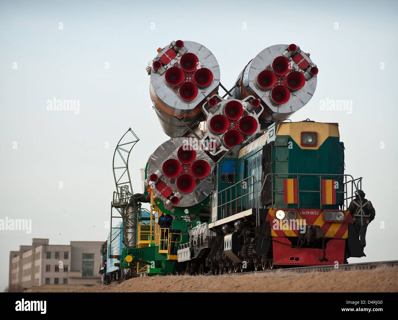 Expedition 23 Soyuz Rollout (201003310013HQ) - Stock Image