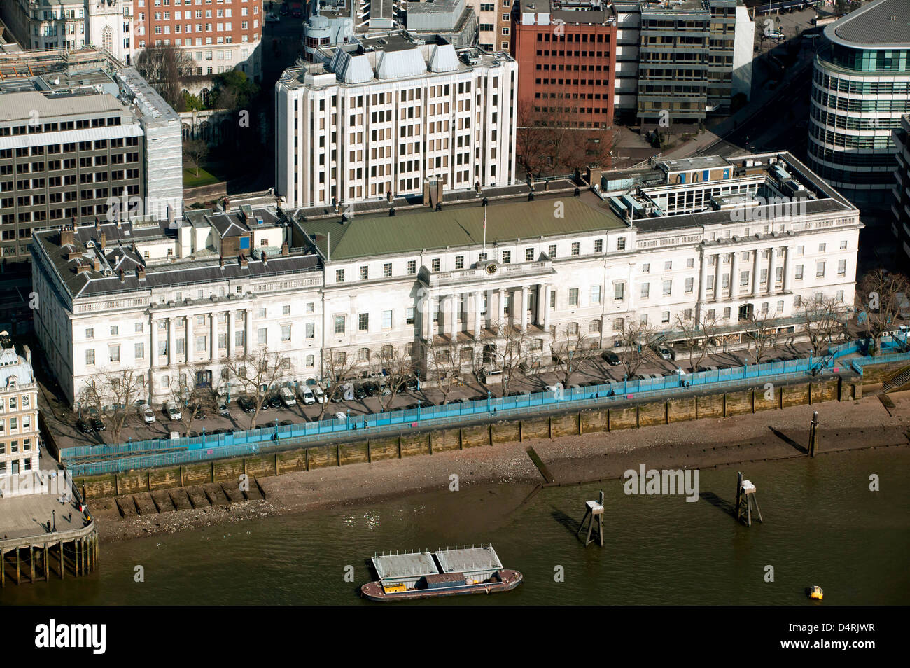 Arial view of the Custom House, City of London - Stock Image