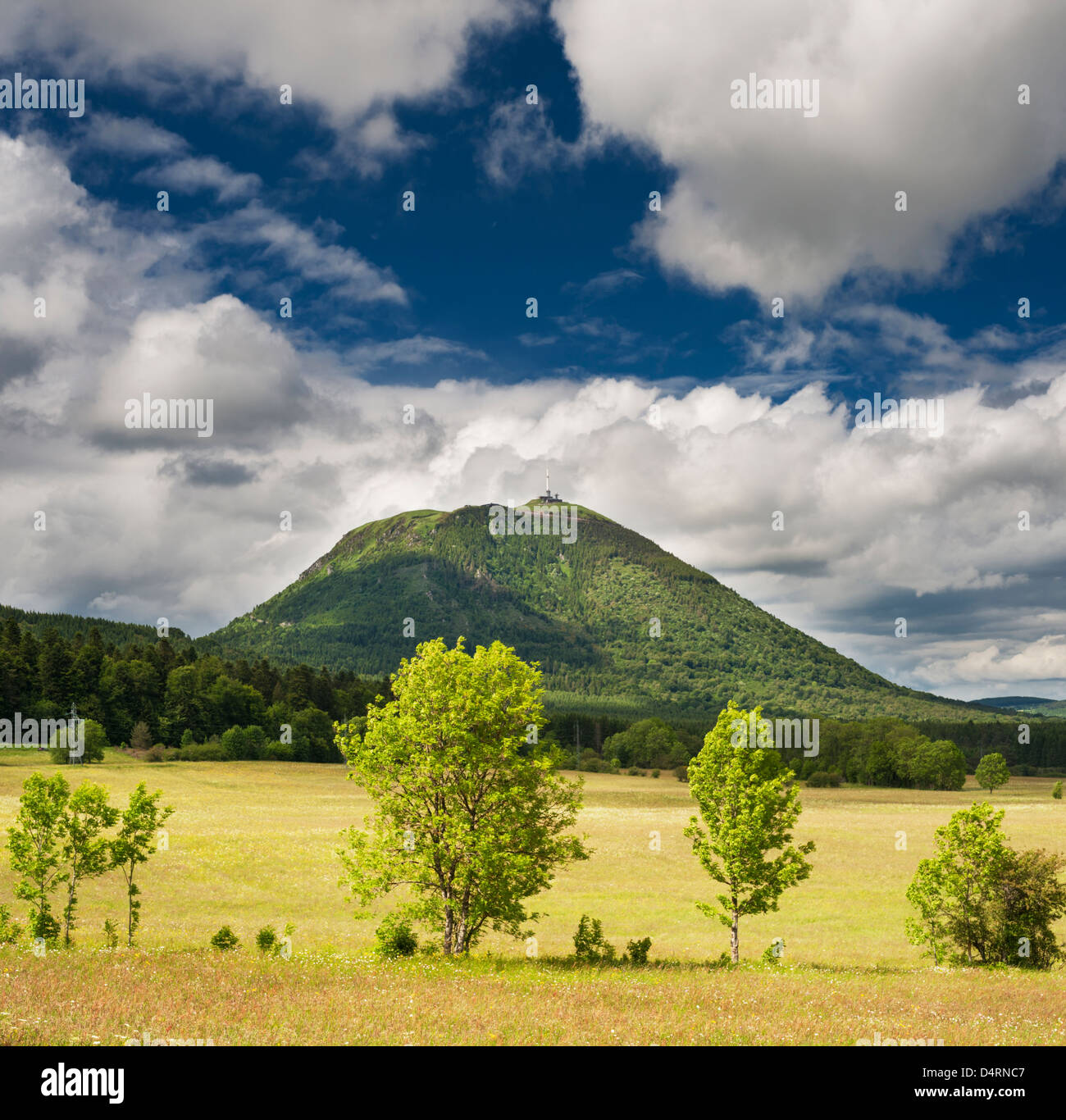 Puy-de-Dome Volcano from Laschamps, Auvergne, France - Stock Image