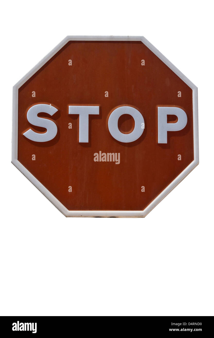 Spanish Stop Road Sign Spain Signs - Stock Image