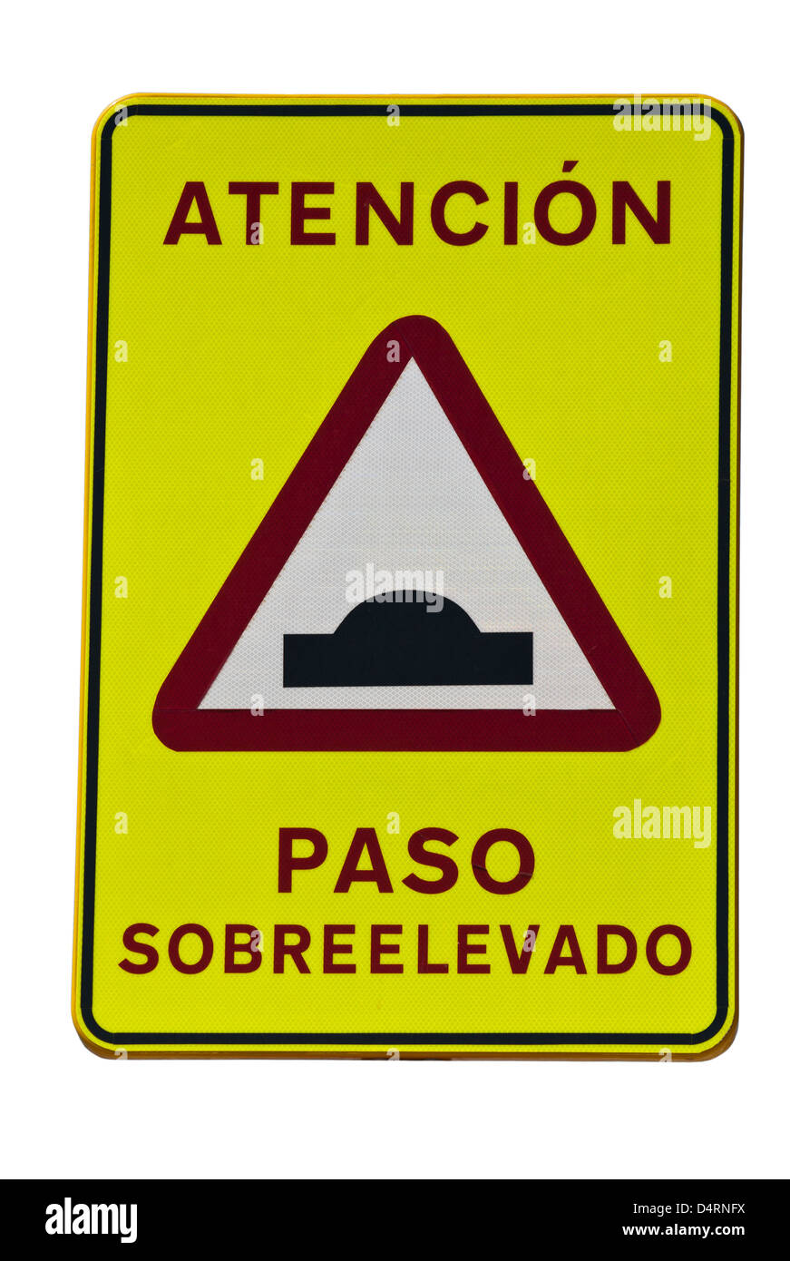 Road Humps Spanish Road Sign spain - Stock Image