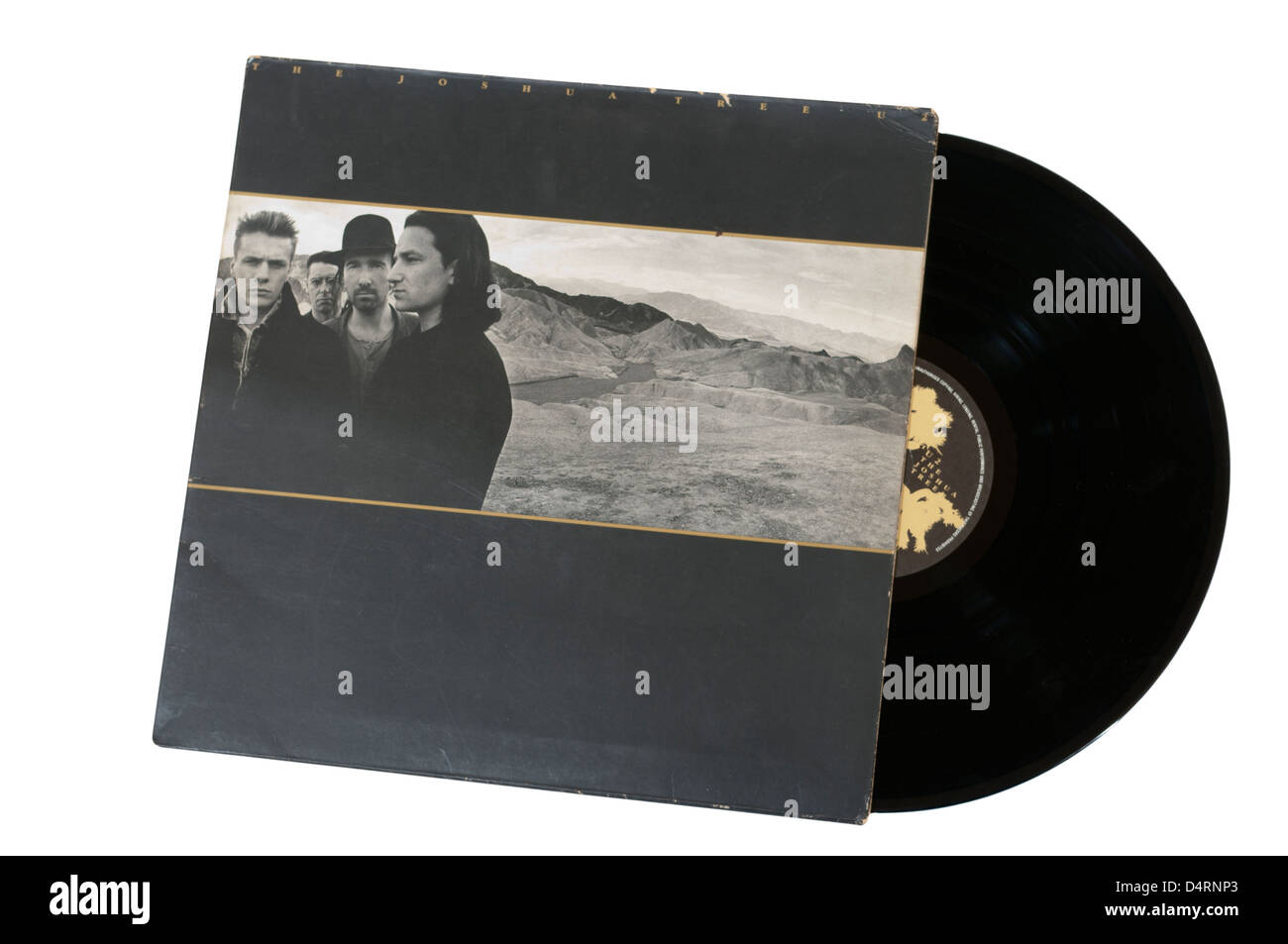 U2 The Joshua Tree Vinyl Record LP - Stock Image
