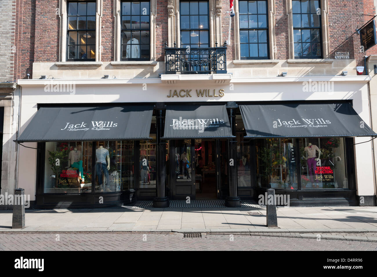 The new Jack Will's clothing shop St Andrew's Street Cambridge UK - Stock Image