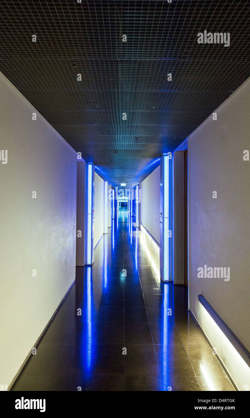 Europe Turkey Istanbul, a interior corridor of the Levent Loft Stock ...