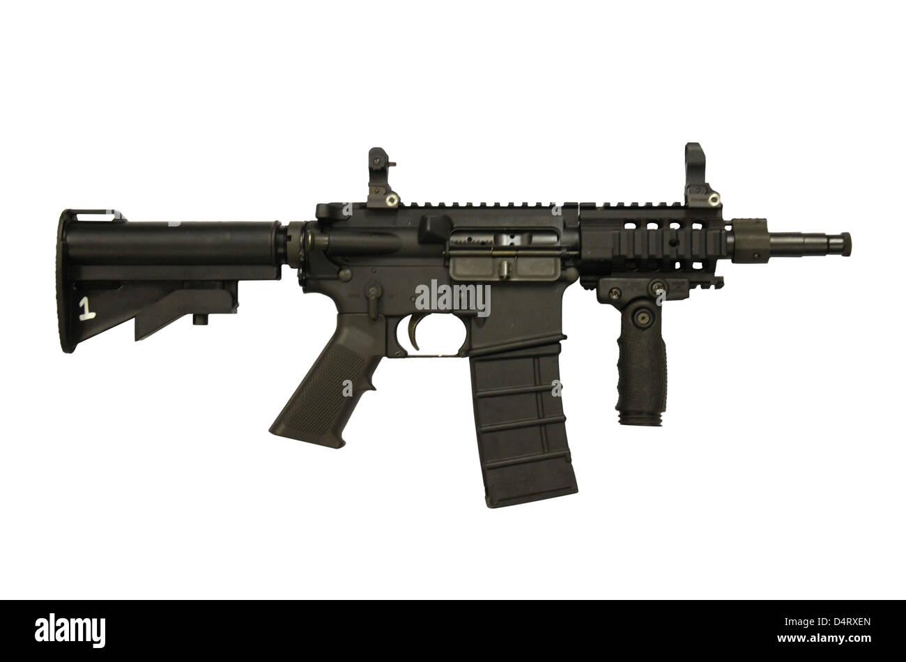 M4 Carbine 5.56mm micro variant. - Stock Image
