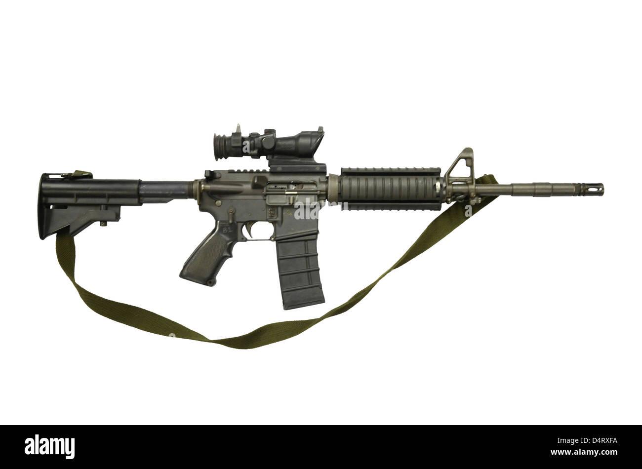 Diemaco CB 5.56mm Canada, assault carbine copy of colt Commando. - Stock Image