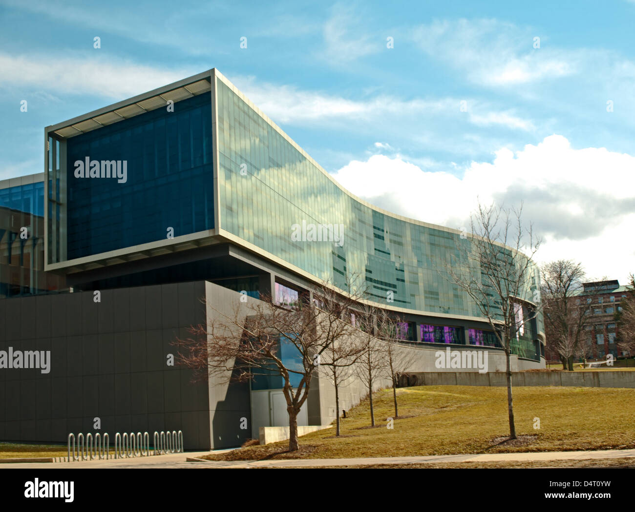 Modern Architecture On Syracuse University Campus, Syracuse, New York. S.I.  Newhouse School Of Public Communications