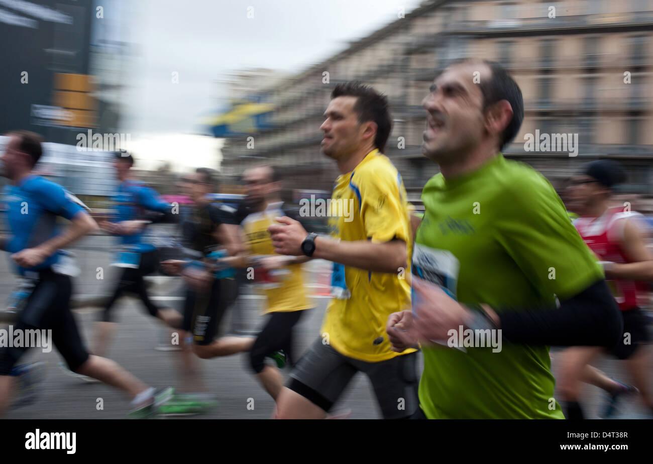 Marathon of Barcelona 2013 - Stock Image