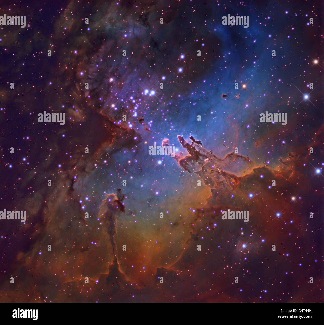 M16, The Eagle Nebula in Serpens. - Stock Image