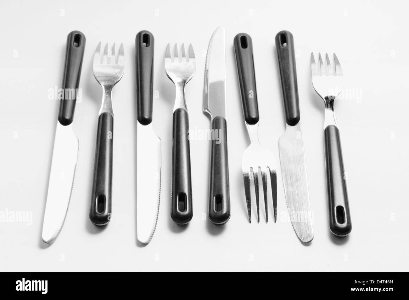 Forks and Knives - Stock Image