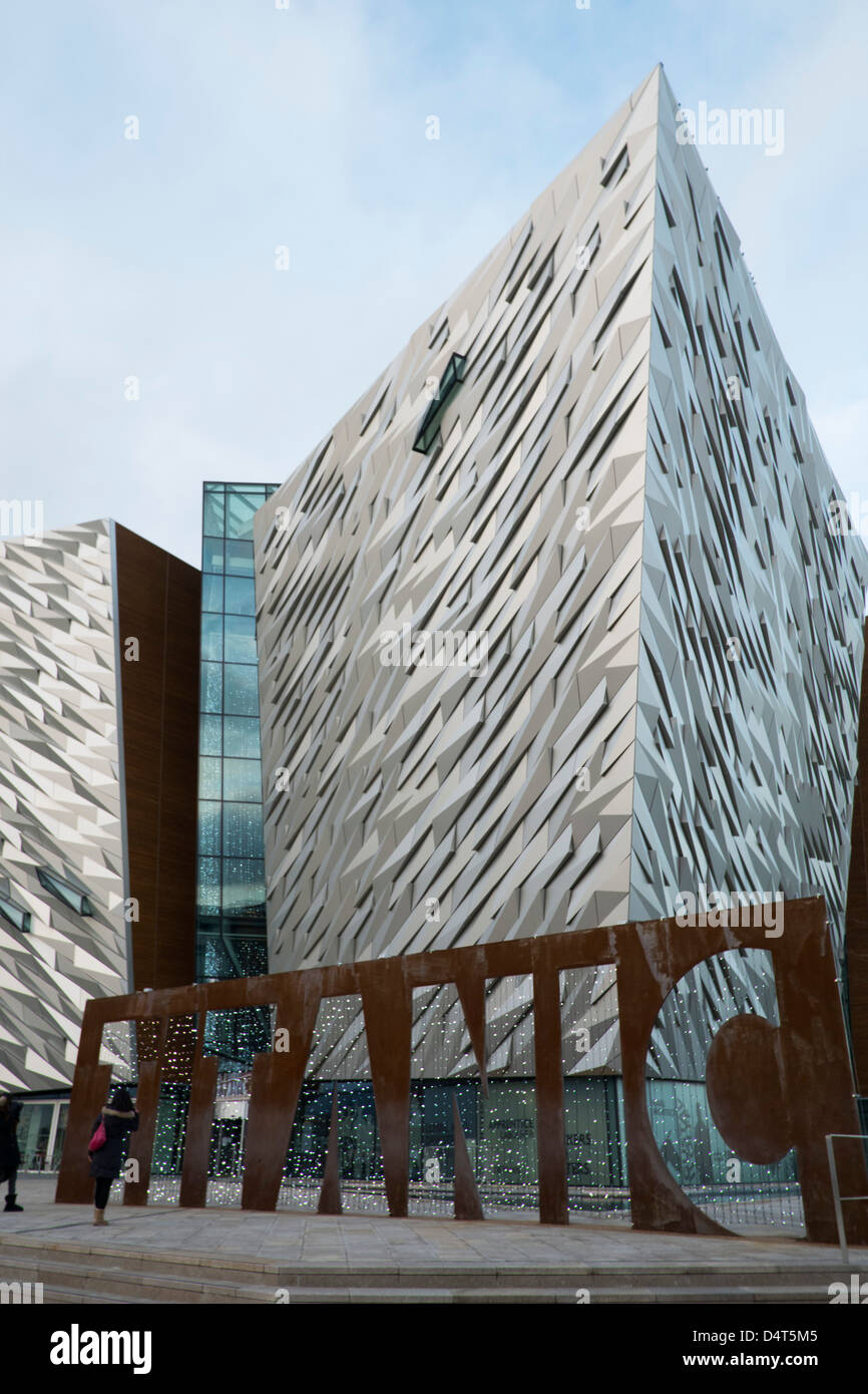 A view of the Titanic museum in Belfast. - Stock Image