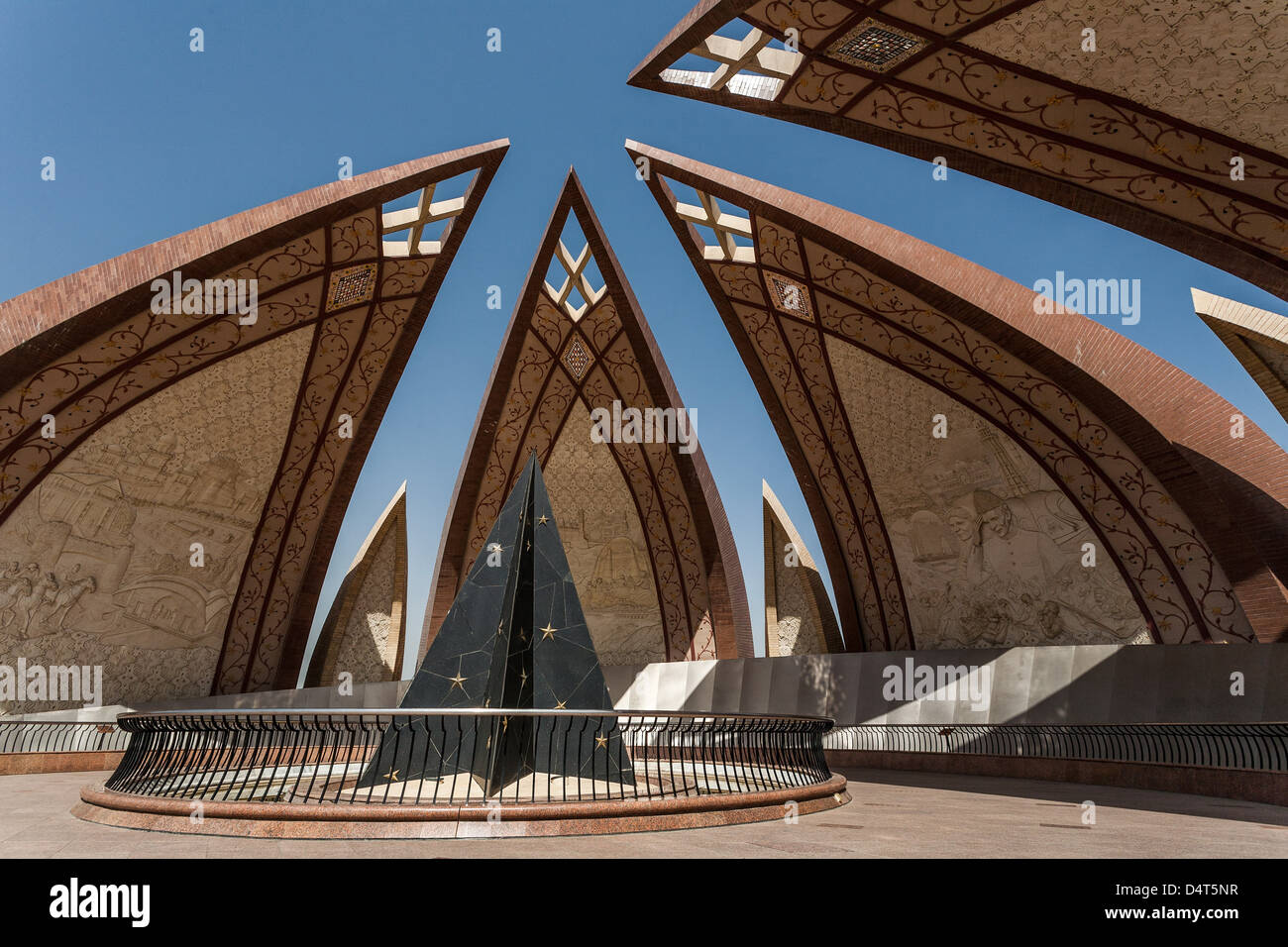 The Pakistan Monument in Islamabad, Pakistan, is a national monument - Stock Image