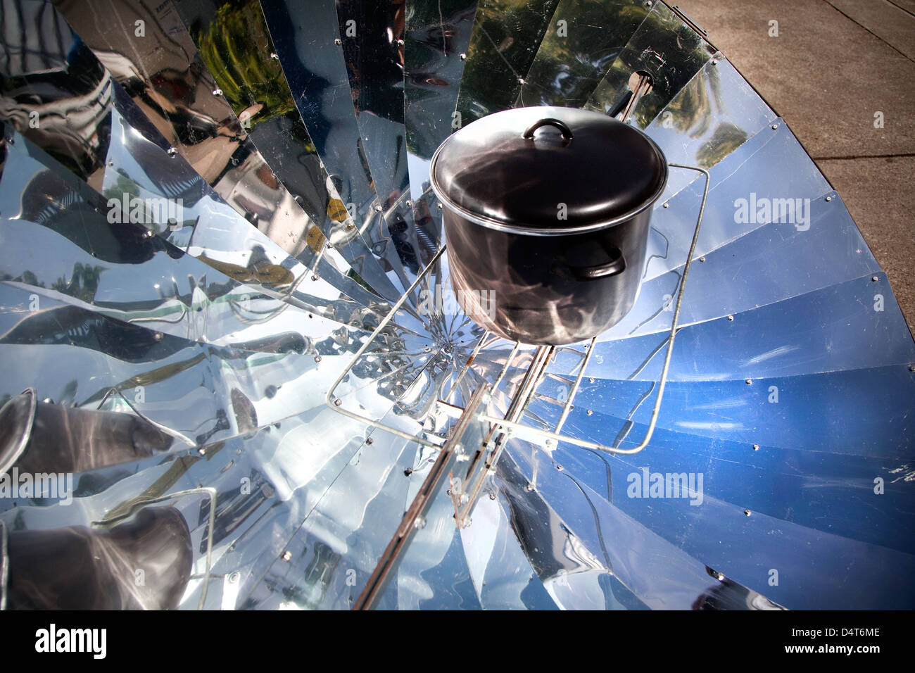 Freiburg, Germany, solar cookers Developer Rolf Behringer - Stock Image