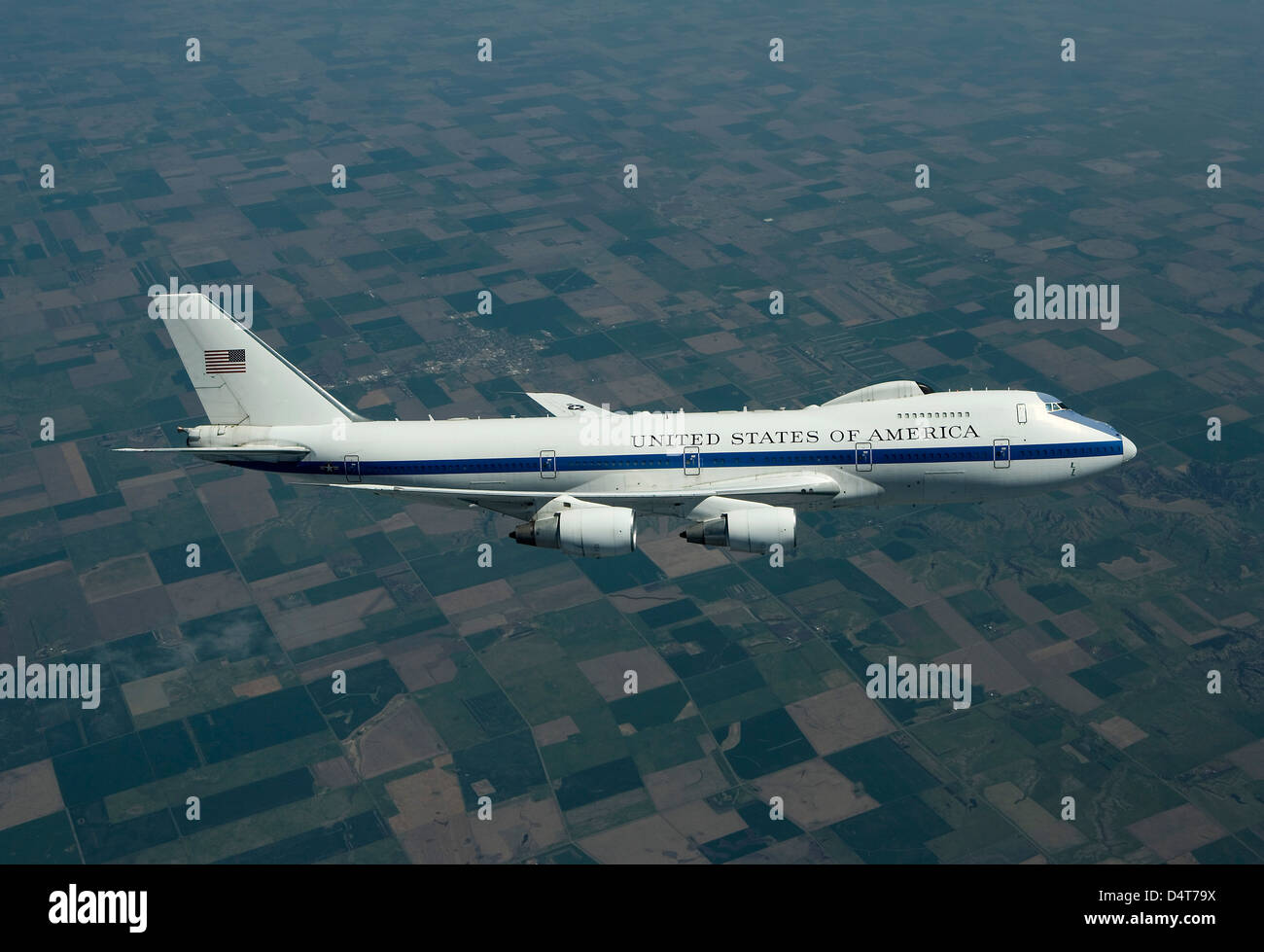 An E-4B National Airborne Operations Center aircraft. - Stock Image