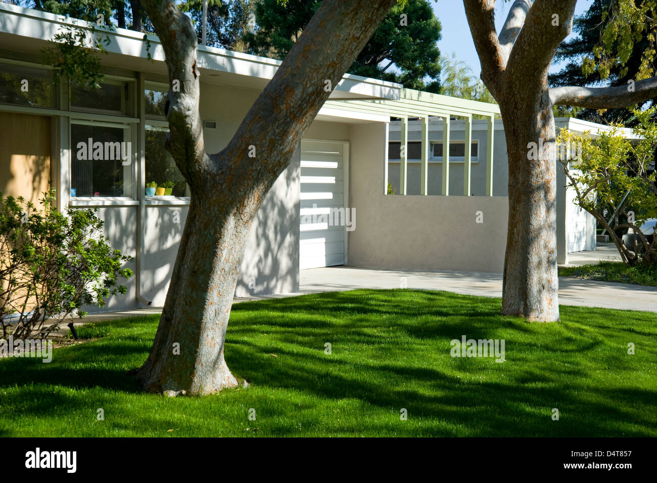 Case Study house 1960's mid-century modern architecture in West Los Angeles - Stock Image
