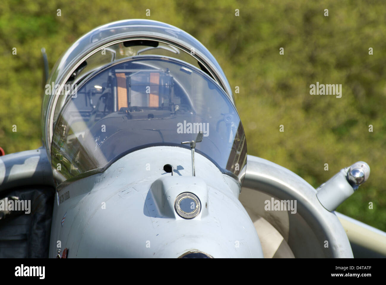 Close-up of a BAE Harrier II aircraft, Niederrhein, Germany. - Stock Image