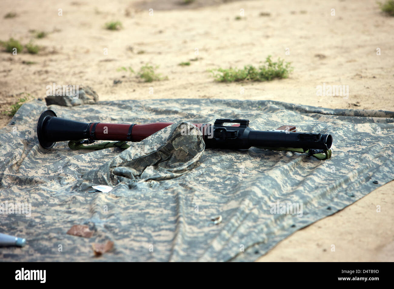 A rocket-propelled grenade launcher. - Stock Image