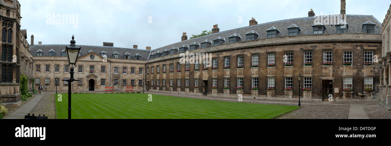 Inner yard of the Peterhouse college - Stock Image