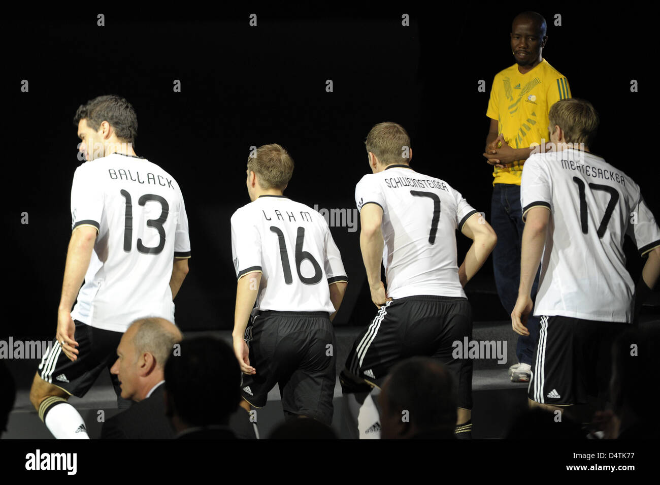 super popular f7a31 7bfb4 German soccer internationals Michael Ballack (L-R), Philipp ...