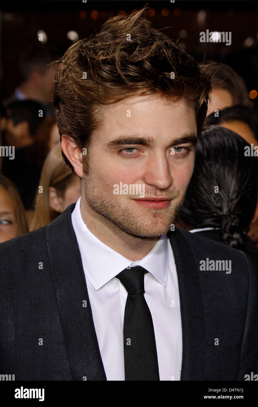 Actor Robert Pattinson arrives at the world premiere of the film 'Twilight: New Moon' at Bruin and Village - Stock Image