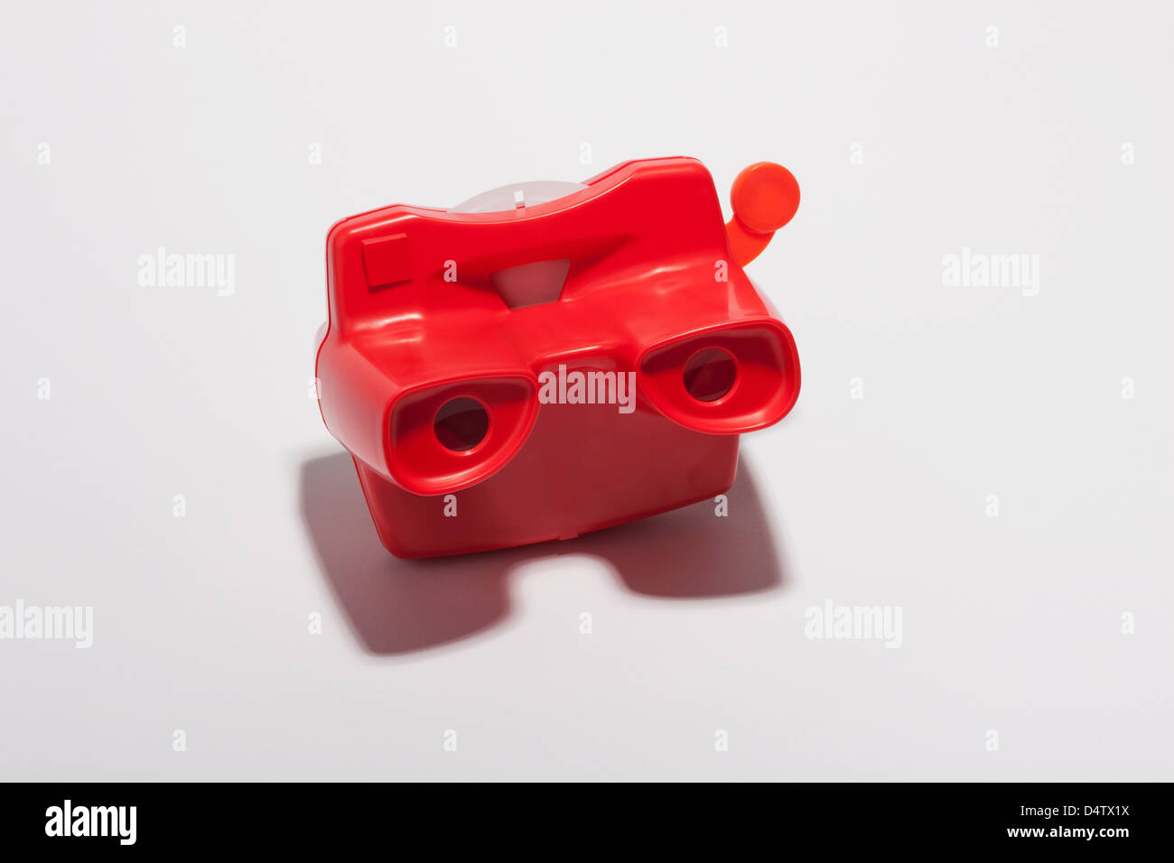 Close up of red slide viewer - Stock Image
