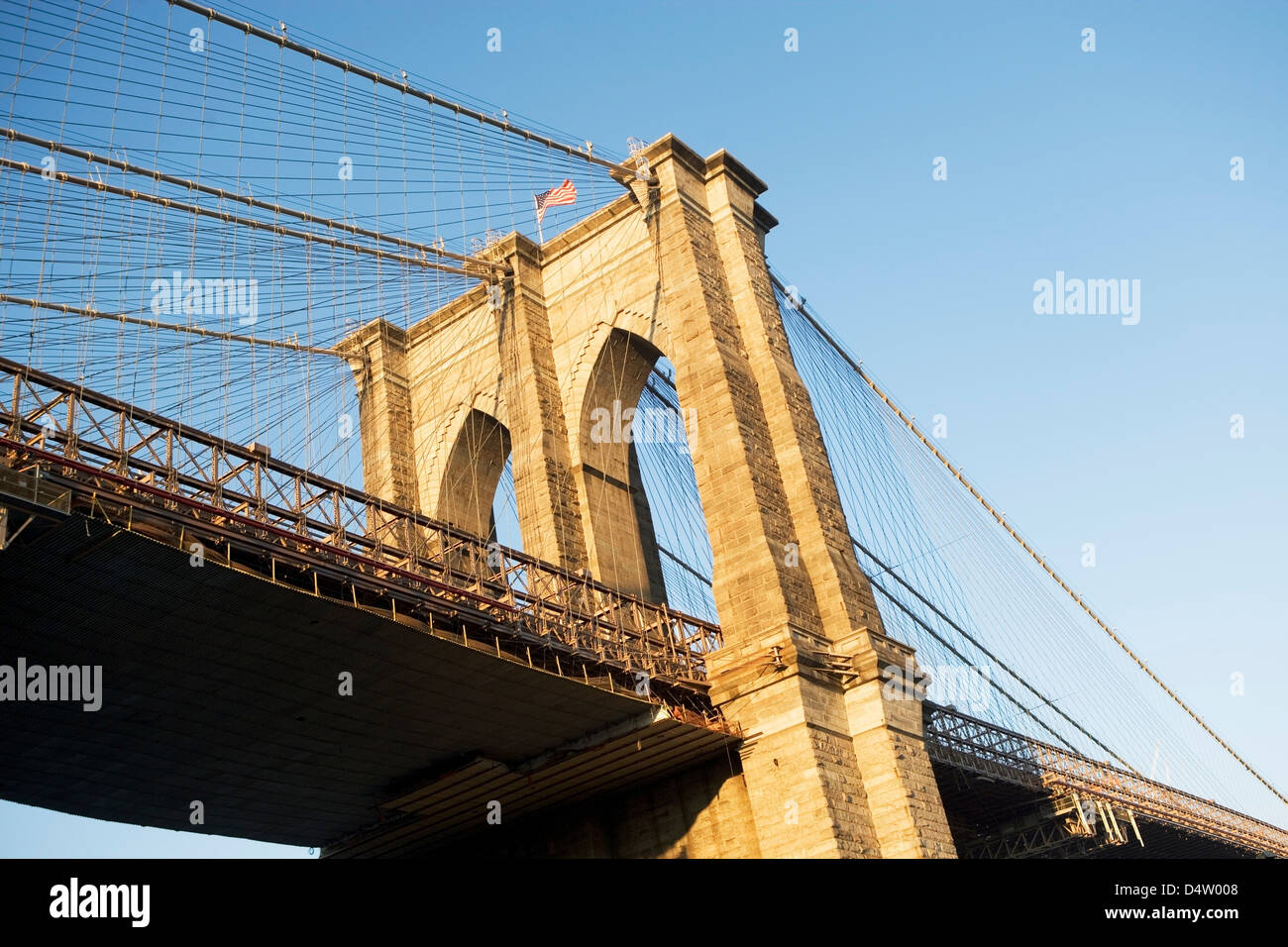 Brooklyn Bridge in New York City - Stock Image