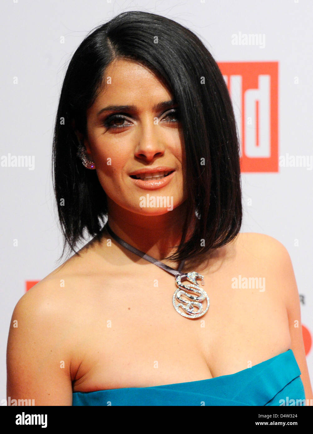 Mexican actress Salma Hayek at the charity gala 'A Heart for Children' ('Ein Herz für Kinder') in Berlin, Germany, Stock Photo
