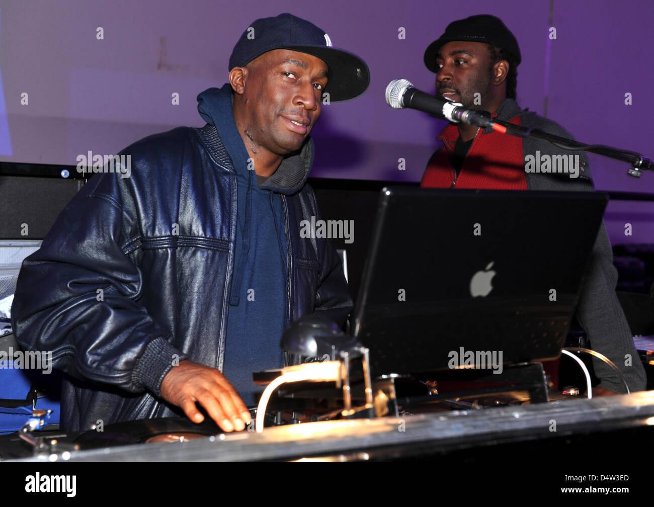 U.S. American DJ Grandmaster Flash alias Joseph Saddler pictured during the soundcheck at the noble nightclub 'P1' - Stock Image