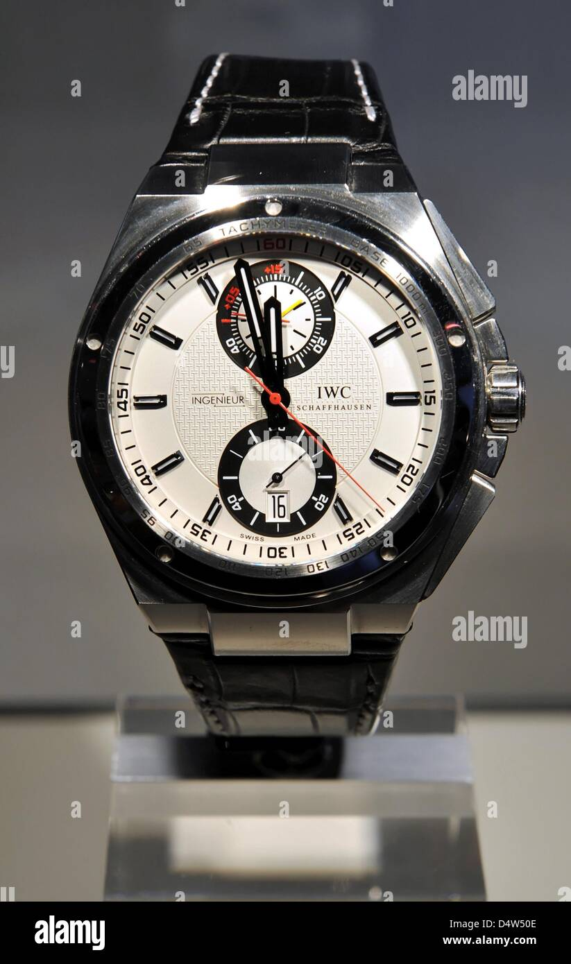 The new official watch of German Football Association (DFB) is presented in Munich, Germany, 16 December 2009. The - Stock Image