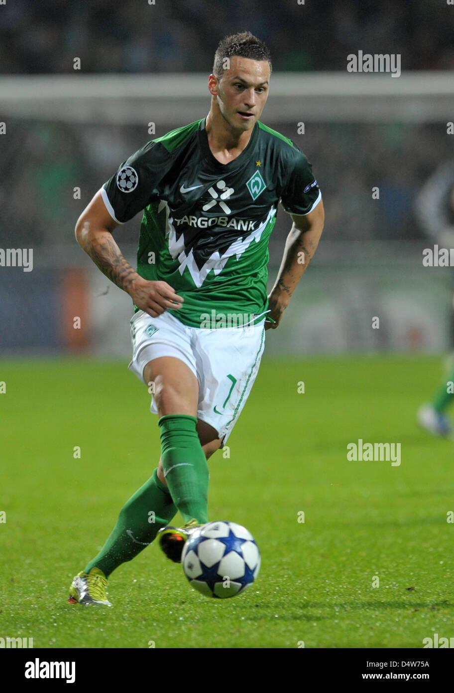 Fu§ball, Champions League, Gruppe A, 1. Spieltag: SV Werder Bremen - Tottenham Hotspur am Dienstag (14.09.2010) - Stock Image